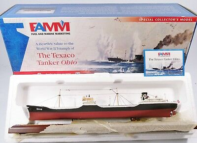 FAMM Fuel/Marine Marketing Texaco Tanker Ohio w/Display Base #02388 C10 NIB