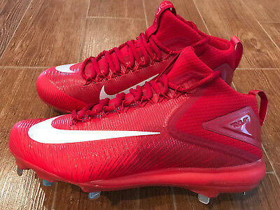 d45025a71fa NEW Nike Zoom Trout 3 Mid Metal Men s Baseball Cleats Red White 856503-667