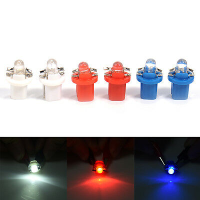 10X T5 B8.5D 1 SMD 5050 LED Car Speedo Dashboard Dash Side Wedge Light Lamp Bulb