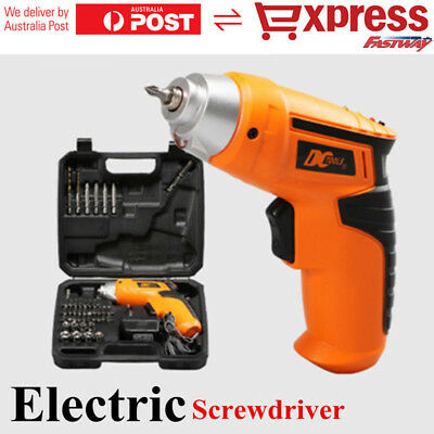 Electric Drill Driver Bits Set Wireless Battery & Recharger Cordless Screwdriver
