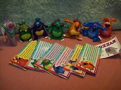 Yowies Series 4 ,  FULL SET OF 6 MULTI PIECE MEN + LORD BALTHIZAR RARE + PAPERS