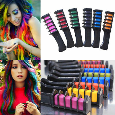 COLOR CHALK *MINI COMB* Crayons Safe Temporary Dye Hair Care! **YOU CHOOSE!**