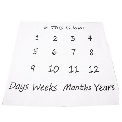 Creative Swaddle Newborn Blanket Monthly Milestone Baby Photography Props (Si B3