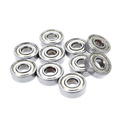 10 pcs. Ball bearings miniature deep groove ball bearings 608 ZZ 8 x 22 x 7mm B3