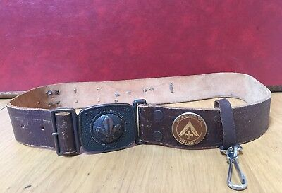 Vintage Boy Scouts Belt with 7 Badges $39 Free Post