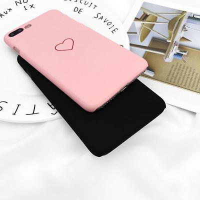 New Fashion Love Heart Painted Phone Case For iphone 5S 6 7 Plus X Couples Case