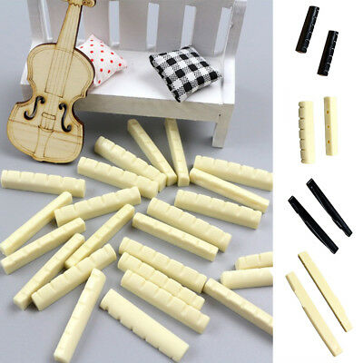 10x Guitar Plastic Bridge Nut/Saddle Part fits for 6 String Classical Guitar