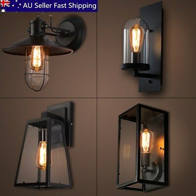 Outdoor Vintage Wall Sconce Lantern Lamp Stainless Steel Porch Yard Light AU