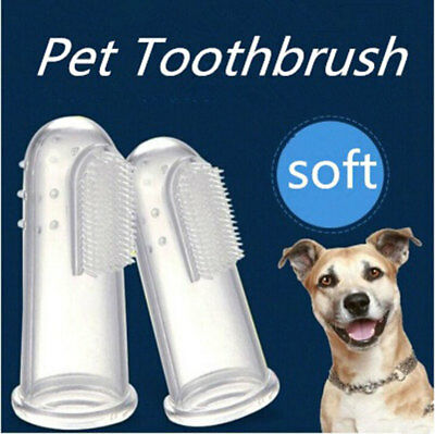 5x Soft Finger Toothbrush Pet Dog Oral Dental Cleaning Teeth Care Hygiene Brush