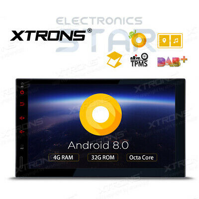 XTRONS TE706PL 8-Core Android 8.0 Double DIN Sat Nav Car GPS Stereo DAB+ Radio