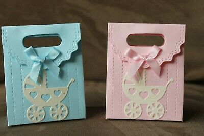 10 xHANDMADE  BABY GIRL / BOY BABY SHOWER / PARTY FAVOUR BOXES