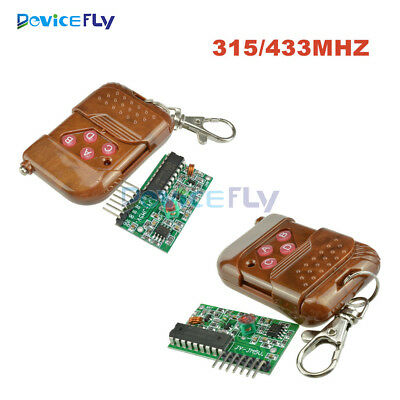 IC2262/2272 4 Channel Wireless Remote Control Kits 4 Key Wireless 433/315MHZ
