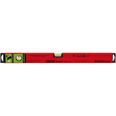 DRAPER Expert Plumb Site® Dual View™ Box Section Spirit Level 600,1200 or 1800mm
