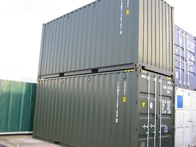 Hightop 20ft x 8ft One Trip Shipping Container's FOR SALE site store steelshed