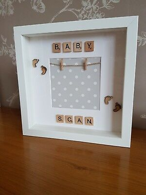 Handmade Baby Scan Scrabble Frame New Baby Gift Baby Shower Gift Mum to Be Gift