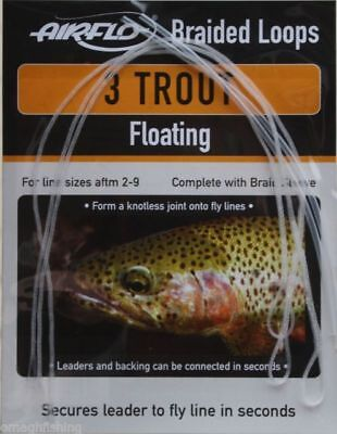 New Airflo Trout Braided Loops Floating X 3 Fly Fishing Free Post Uk