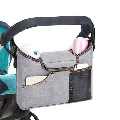 Multifunctional Waterproof Diaper Bag Mom Bag Stroller Bag Cup Bottle Organizer