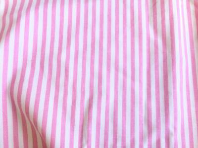 PRINTED Cotton POPLIN Dressmaking Fabric Material - PINK STRIPE