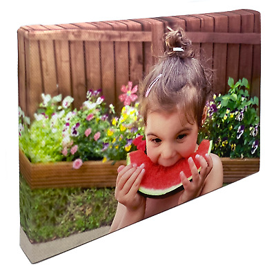 Personalised Framed Photo Canvas Print - Custom Large Box Printing READY TO HANG