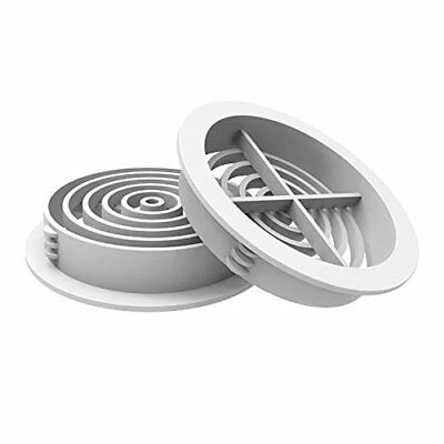 25 x 70mm White Plastic Round Soffit Air Vents / Upvc Push in Roof Disc / Fascia