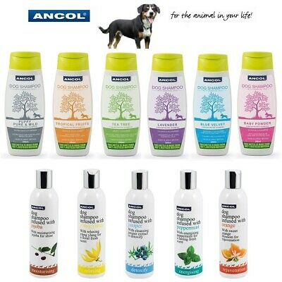 Ancol Dog Puppy Fresh Luxury Shampoo Detangler Conditioner 200ml 250ml 500ml