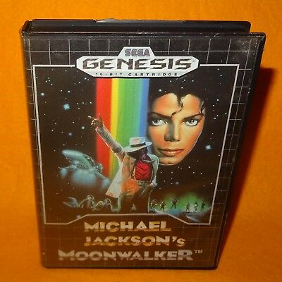 Vintage 1990 Sega Genesis Michael Jackson's Moonwalker Cartridge Video Game