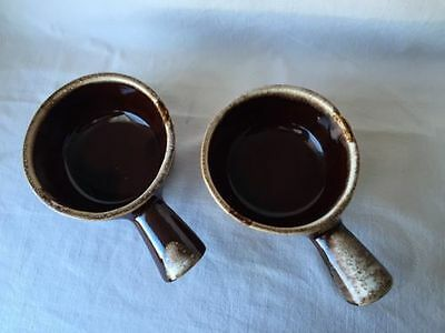 Vintage McCoy  Soup/Chili/Bean Bowls With Handle Lot Of Of 2