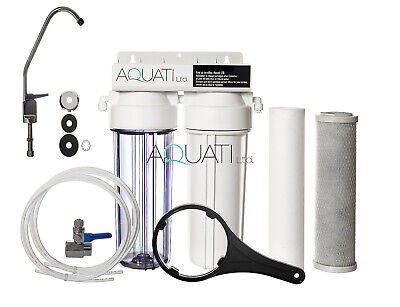 Home Drinking Water Filter Sytsem With Faucet & Accessories Domestic Under Sink