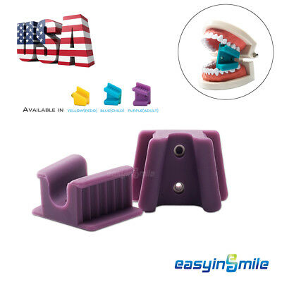 2pcs Dental Bite Block EASYINSMILE Autoclavable Silicone Mouth Props Adult/Child