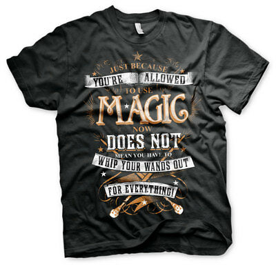 Officially Licensed Harry Potter Magic Men's T-Shirt S-XXL Sizes