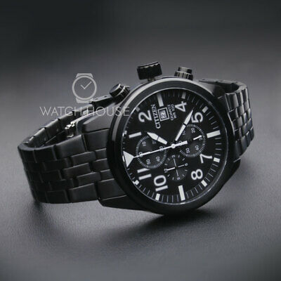 Citizen Basic AN3625-58E Black Chronograph Herren Armbanduhr