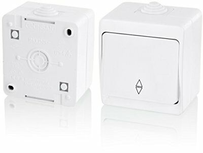 Surface-mounted Sauna Toggle Switch IP54 – All-in-one – Frame + Insert + Cover