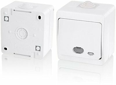 IP54Moisture-Proof Switch with Light Symbol + LED Light–All in One–Frame +