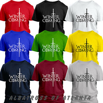 WINTER IS COMING JON SNOW GOT GAME OF THE THRONES KIDS MENS LADIES GIFT T-shirt