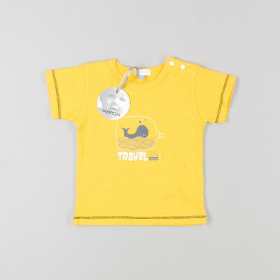 Camiseta Travel the Seas manga corta de color Amarillo de marca Absorba 6 Meses