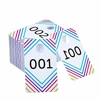 Frienda 100 Pieces Live Sale Number Tags Plastic with Normal and Reversed...
