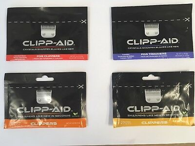 Clipp-Aid barber/Pet Clipper Blade Sharpener Single Sachet for Standard Clippers