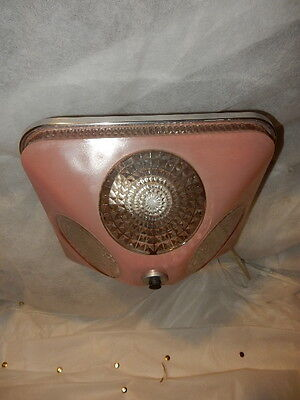 Art Deco Pink Square Glass  Light Fixture Ceiling Chandelier 1940s-Pr. Available