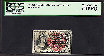 US 10c Fractional Currency FR 1261 PCGS 64 PPQ V Ch CU