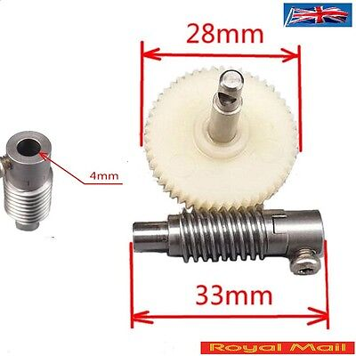 Plastic Metal Worm Wheel Gear Reducer Gear Reduction set for DIY #H104
