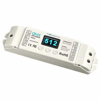 LED Supplies DMX Controller Const Voltage 12VDC - 24VDC 1 channel x 10A 120W max