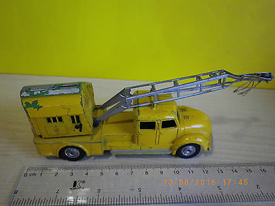 MARKLIN 8023 ó 8028 MAGIRUS old yellow truck crane WESTERN GERMANY 1958 -257 gr