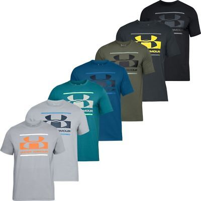 Under Armour Mens Ua Blocked Sportstyle Logo Charged Cotton® T-Shirt