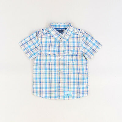 Camisa color Azul marca Tommy Hilfiger 12 Meses