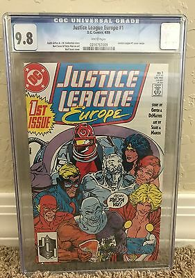 Justice League Europe #1 , CGC 9.8 , DC Comics , 1989 , White Pages