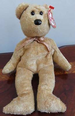 TY BEANIE BABIES BABY CASHEW the LIGHT BROWN BEAR DOB 4-22-2000 MWMT