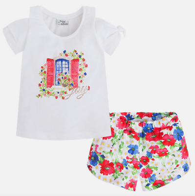 Mayoral Girls Top and Short Set 3293 age 3-9 Years