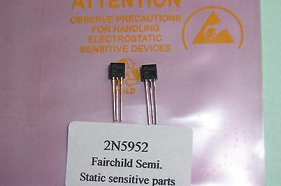 2N5952 GENUINE Fairchild Semi N Channel JFET's Qty.2  RF Audio amplifier. NOS