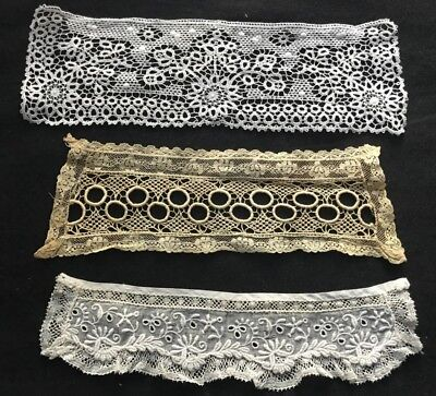 Three Gorgeous Antique Lace Single Cuffs