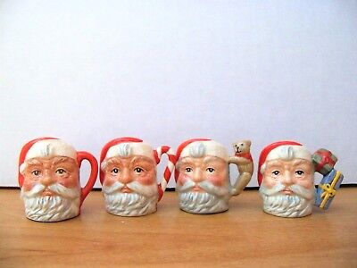 Royal Doulton Character Jug  SANTA CLAUS SET OF 4  Tiny   Limited Edition